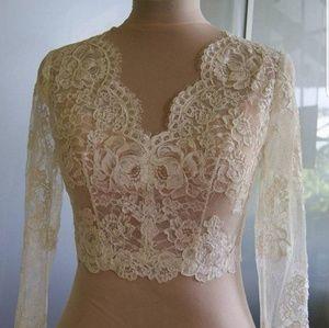Wedding Bridal Bolero Size 14